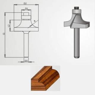 Fresa Para Decoração Rolamento 15x10mm Radix - 1974115.01