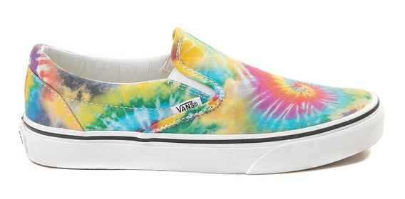 Tenis Vans Arcoiris Multicolor Colores Tie Dye Arcoris Unise