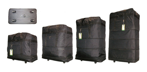 Bolso Plegable Con 5 Ruedas Giratorias 360º - 34 Pulgadas