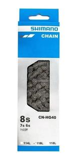 Corrente Shimano Hg40 8v 7v 6v Mtb Speed Acera Alivio