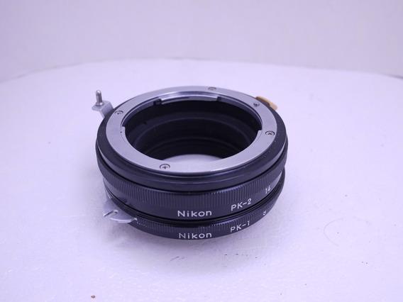 Nikon Pk-1 E Pk-2 Conjunto De Tubo De Extensão Lente Macro