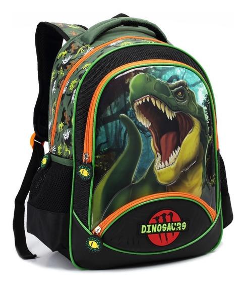 Mochila Costas Escolar Infantil Dinossauro 13958 Nova Coleçã
