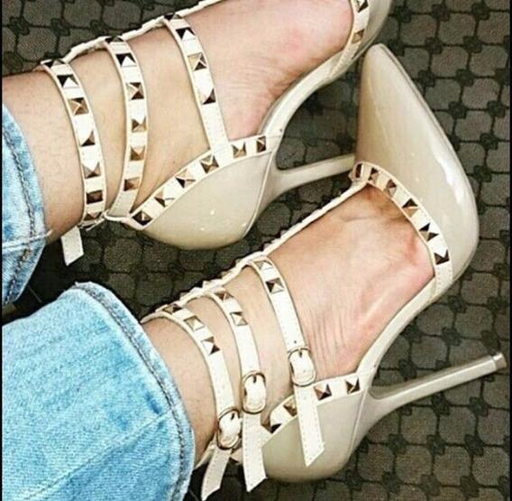 Sapato Scarpin Com Spikes Salto 11 Cm - Várias Cores