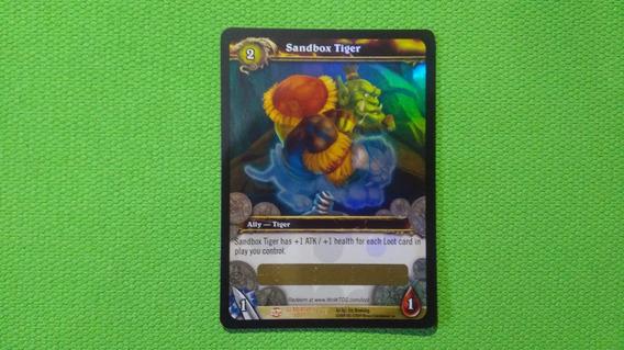 Wow Card Tcg Item - Tigre De Balanço / Sandbox Tiger