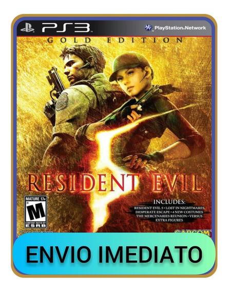 Resident Evil 5, Ps3, Psn, Mídia Digital Jogo Completo