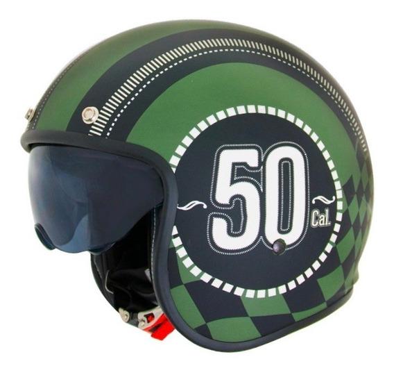 Casco Moto Abierto Con Visor Num 50 X581 Punto Extremo