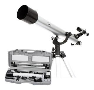 Telescopio Reflector 60x700 Estuche Zoom 525x Tripode