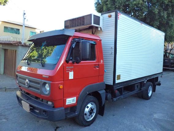 Caminhão Vw-10160 2017/2018 Bau Refrigerado Gancheira