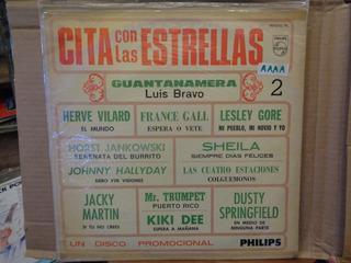 Cita Con Las Estrellas Johnny Halliday Comp Disco Lp Vinil K