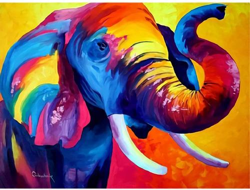 Kits De Pintura De Diamante 5d Elephant  Elefante 30x40cms