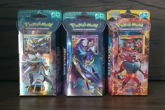 4 Deck Pokémon Sol E Lua