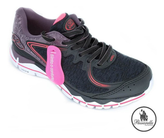 Tênis Feminino Olympikus Running Flit 259 - Preto/vanguarda