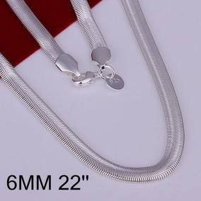 Colar Masculino Espinha De Cobra Folheado Prata 925