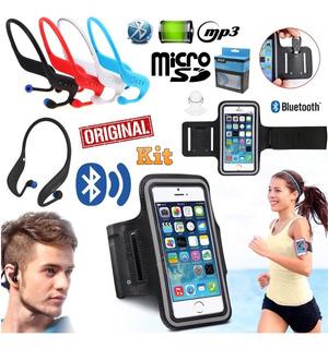 Fone Ouvido Sem Fio Sport Bluetooth Mp3 Corrida + Braçadeira