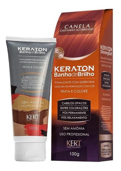 Kit 2 Coloração Keraton Banho De Brilho Canela
