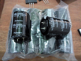Capacitor Eletrolítico 100v 10000uf Kit Com Duas Peças