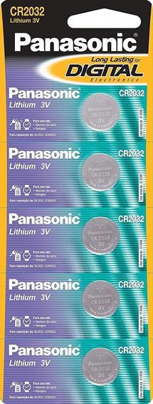 Bateria Lithium 3v Cr2032 Panasonic Cartela C/ 5