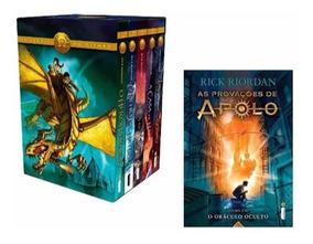 Box Livro Heróis Do Olimpo + O Oráculo Oculto - Rick Riordan