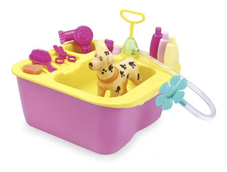 Juguete Bañera Con Perrito De Mascota Lionels Acqua Pet