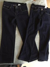 2 Pantalones Mezclilla Talla 8 Para Niña