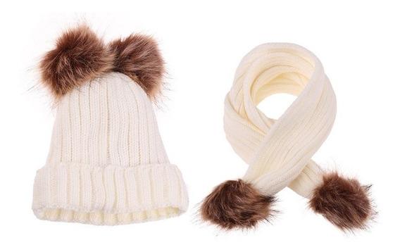 Gorro De Lã Quente Desleixado De Malha Inverno Infantil Cac