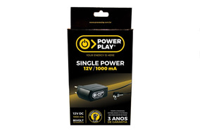 Fonte Power Play Single Power 1000ma 12v Bivolt