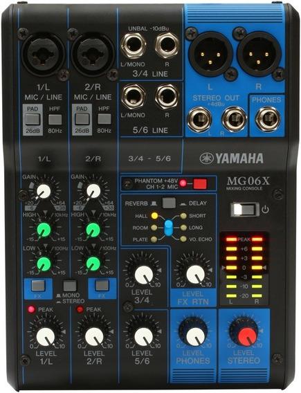 Mesa De Som 6 Canais E Efx Mg06x - Yamaha