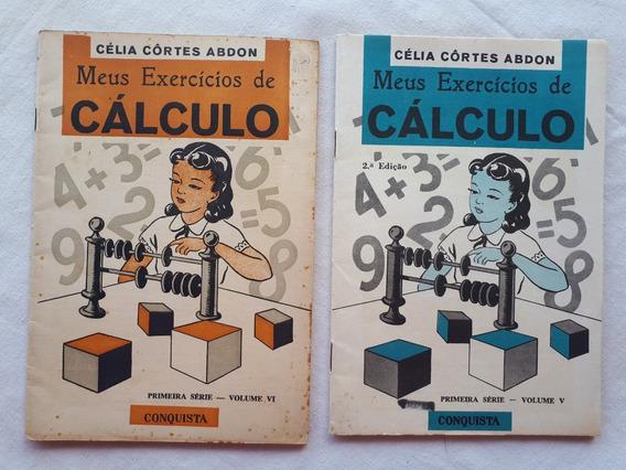 Livro Meus Exercícios De Calculo Vol. 5 E 6 Didático Antigo