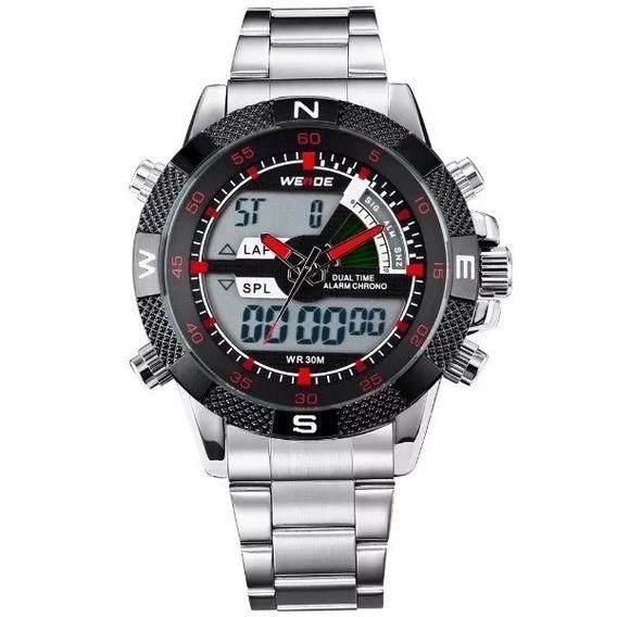 Relógio Masculino Weide Anadigi Wh-1104 Vermelho
