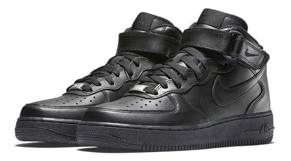 Zapatillas Mujer Nike Air Force 1 Mid Botitas Cuero Envios
