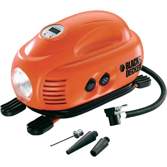 Mini Compressor Digital 12v Asi200-la Black +decker
