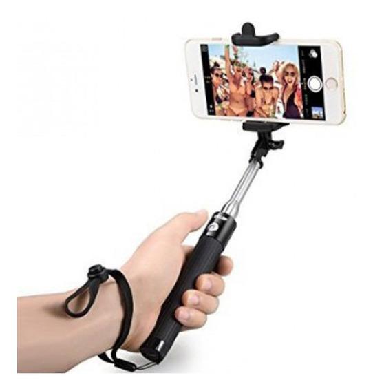 Pau De Selfie Stick Monopod 3º Geração Preto Com Botão