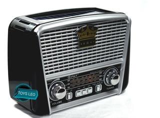 Radio Solar Am,fm, Luz Led, Bluetooth, Sd, Usb, Recargable.