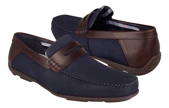 Zapatos Casuales Flexi 68607 Gamuza Navy
