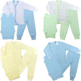 Roupa De Bebê Menino Kit 4 Conjuntos Pagão Calça Body Casaco