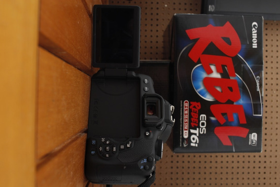 Câmera Canon T6i + Lente 18-55 Estabilizada