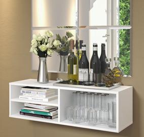 Porta Bebidas Copeira Multiuso Bar Aereo Escrivaninha Branca
