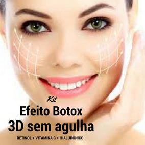 Kit Efeito Botox 3d : Retinol + Vitamina C + Hialurônico