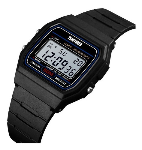 Relogio Skmei 1412 Original Tipo F91 Data Alarm Crono Wr50m