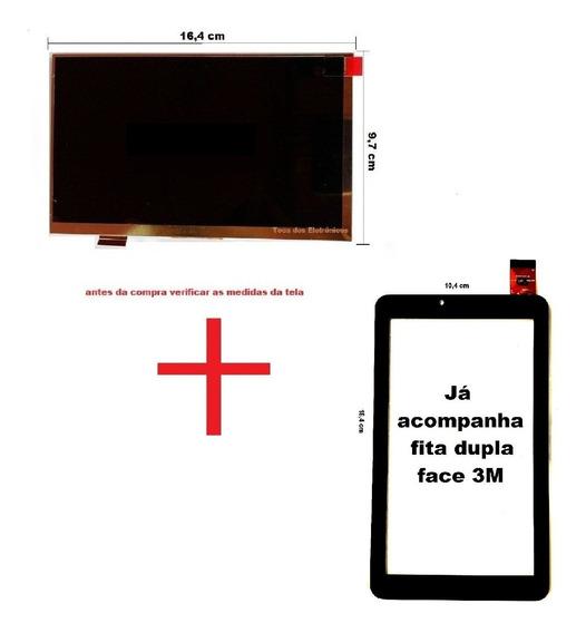 Display Lcd + Touch Tablet Dl Kids C10 Tx394bbv Tx394 7 Pol