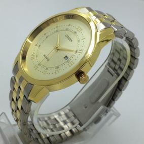 O) Relógio Masculino Banho A Ouro Frete Grátis Promoção