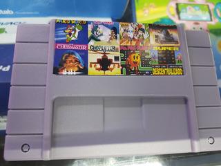 Juego 8 En 1 Para Super Nintendo Snes