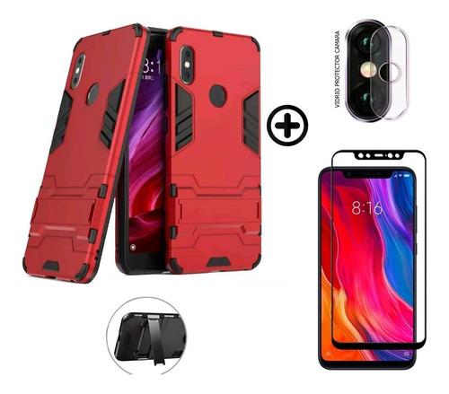Estuche Xiaomi Mi 8 + Vidrio Templado + Protector De Camara