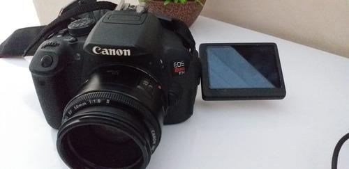 Canon T5i Com Lente 50mm Duas Baterias, Cartão De Memoria