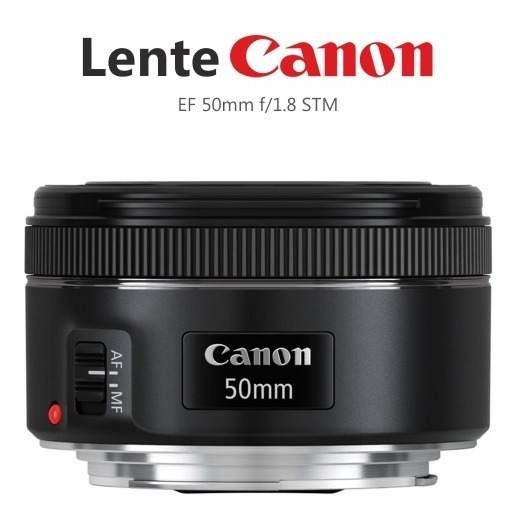 Lente Canon Ef 50mm F/1.8 Stm - Frete Grátis