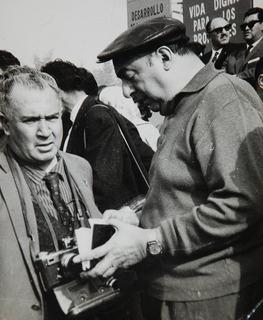 Sergio Larrain Neruda Participa En Acto Politico Foto