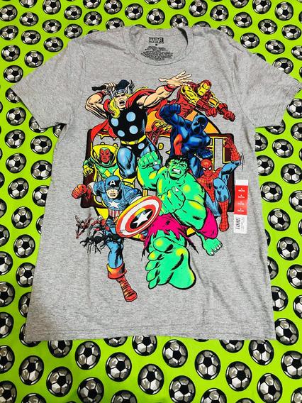 Playera Camiseta Marvel Avengers Vengadores Estilo Vintage