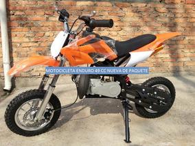 Motos Para Niño Cross/enduro, Motor Gasolina 2 Tiempos 50cc