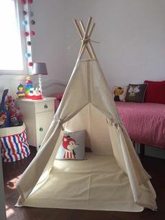 Carpa Tipi Indios Montessori Completa! Piso Ventana Y Funda