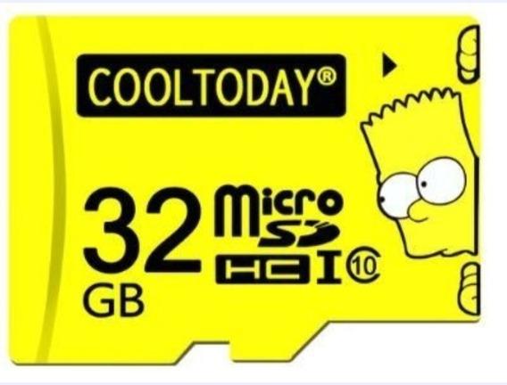 10 Cartões De Memória 32 Gb Bart Simpson
